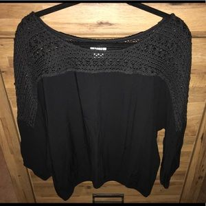 Black laced top